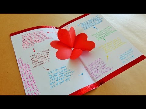 Tarjeta de corazones 3D {Pop Up} // Tarjetas para San Valentin