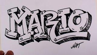 getlinkyoutube.com-Graffiti Writing Mario Name Design #38 in 50 Names Promotion