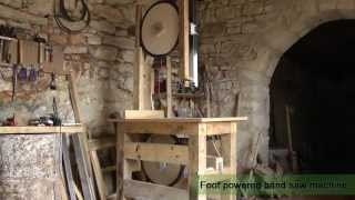 getlinkyoutube.com-Foot powered bandsaw machine