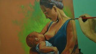 getlinkyoutube.com-Acrylic Painting Lesson - Mother and Child by JM Lisondra