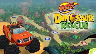 getlinkyoutube.com-Blaze and the Monster Machines Dinosaur Rescue   Nickelodeon   Blaze and the Monster Machines Game