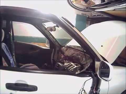 Разбор панели и печки Suzuki Escudo TD02