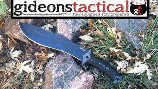 getlinkyoutube.com-Kershaw Camp 10 Knife Review: Budget Chopper