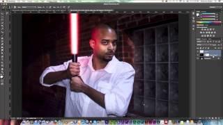 getlinkyoutube.com-Photoshop Starwars Lightsaber Effect Tutorial | Photoshop CC