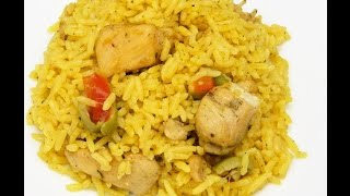 getlinkyoutube.com-How to make Puertorican Arroz con Pollo (Rice with Chicken)