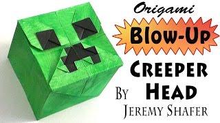 getlinkyoutube.com-Origami Blow-up Creeper Head