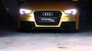 getlinkyoutube.com-Audi S5 Sportback Full Wrapped in Satin Gold Chrome by Impressive Wrap (Hong Kong)