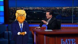 getlinkyoutube.com-Cartoon Donald Trump Tells Stephen Who Started It