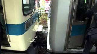 小田急線 新松田駅 車両分割 切り離し 女性車掌
