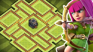 Clash of Clans - NEW Update TH9 Hybrid Base!! CoC Best Town hall 9 Farming/Trophy BASE!!