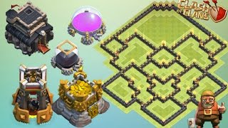 getlinkyoutube.com-Th9 Farming Base With Bomb Tower Update 2016 Anti Loot Anti Giant Anti Everything