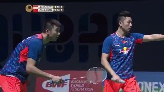 getlinkyoutube.com-Dubai World Superseries Finals 2015 | Badminton F M5-MD | Ahs/Set vs Chai/Hong