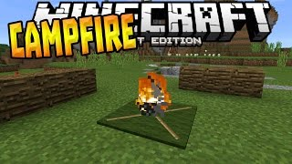 getlinkyoutube.com-CAMPFIRE in MCPE 0.16.0!!! - Campfire Trick - Minecraft PE (Pocket Edition)