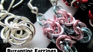 getlinkyoutube.com-Colorful Byzantine Earrings - Chainmaille Tutorial
