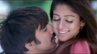 Nayanthara hot saree hip navel romance width=