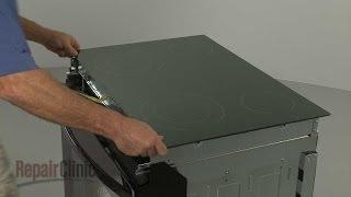 getlinkyoutube.com-Stove Glass Cooktop Replacement – Kenmore Electric Range Repair (part #318223684)