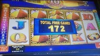 getlinkyoutube.com-Glittering Pyramids Slot Bonus Win by Konami #1