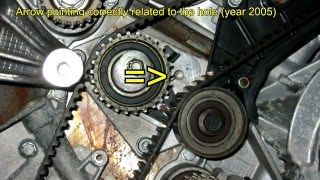 getlinkyoutube.com-Timing belt change - Alfa Romeo 166 (156) 2.0 TS 16v NO SPECIAL TOOLS NEEDED!