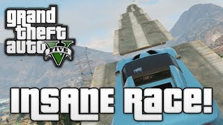 GTA V: STAIRWAY TO HEAVEN! (GTA 5 Online Funny Moments)