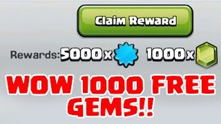 WOW 1000 FREE GEMS | Clash of Clans | 1000 War Stars and DRAGONS