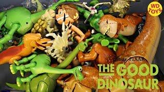 getlinkyoutube.com-New Giant Box Good Dinosaur Toys Disney, Pixar Collection Unboxing Top 10 Surprise