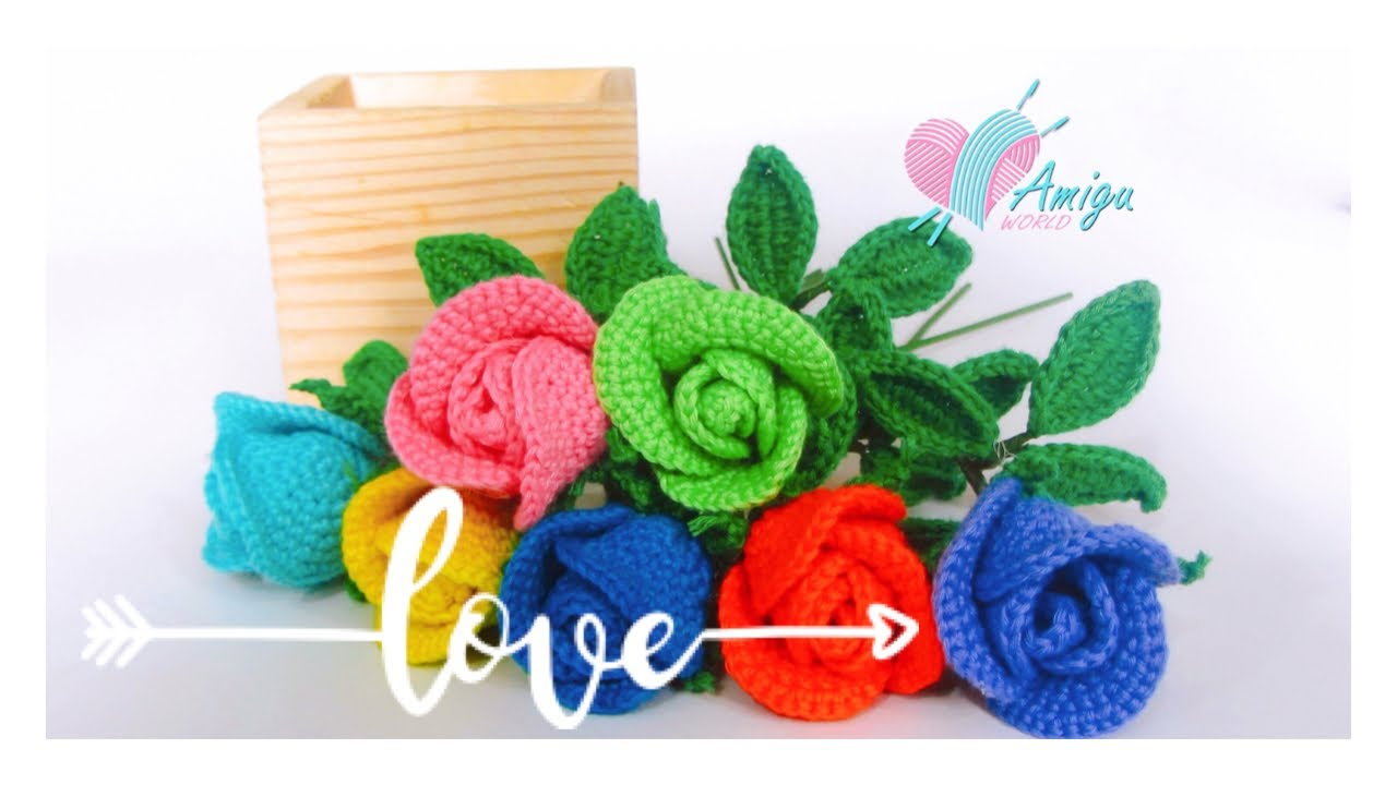 FREE Pattern – How to crochet ROSE amigurumi
