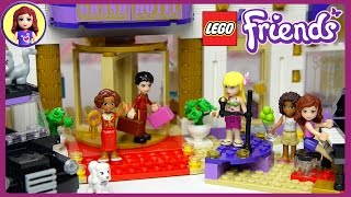 getlinkyoutube.com-Lego Friends Heartlake Grand Hotel Set Unboxing Building Review Part Two  - Kids Toys