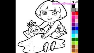 getlinkyoutube.com-Dora The Explorer Coloring Book Games