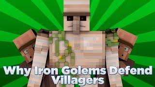 getlinkyoutube.com-Why Iron Golems Defend Villagers - Minecraft