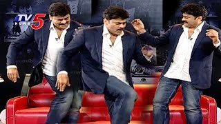getlinkyoutube.com-Chiranjeevi Dance with Singer Mallikarjun | Exclusive Interview on Chiru 60th Birthday | TV5 News