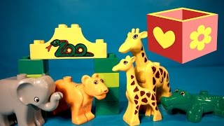 getlinkyoutube.com-Lego Duplo Zoo animals | tractor | Bellboxes |  juguetes para ninos | zoologico | Toys for children