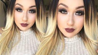 getlinkyoutube.com-Mauve Brown Smokey Eye   No Eyeliner & Colorupop Liquid Lipstick