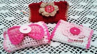 كروشيه محفظه لشاحن وسماعه الموبايل \ اى باد Crochet purse for the phone charger and headphone Ipad