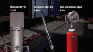 getlinkyoutube.com-Microphone Voice Over Shootout - Blue Spark vs. Neumann U87 ai vs. Sennheiser MKH 416