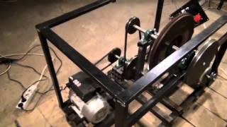 getlinkyoutube.com-Chas Chambell Free Energy Generator Replica - Generating 2340 Watts using 750W