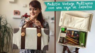 getlinkyoutube.com-Maletín Multiusos Vintage con Caja de Zapatos :: Chuladas Creativas