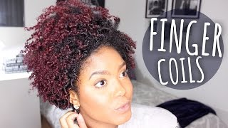 getlinkyoutube.com-Styling My Tapered Fro | Finger Coils on Natural Hair