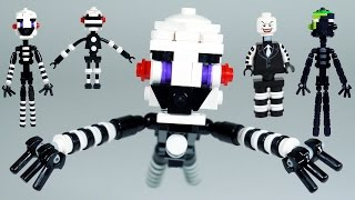 How to Build LEGO FNAF Puppet (Marionette) & Phantom Puppet
