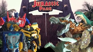 getlinkyoutube.com-Transformers VS Jurassic Park  | Stop Motion Parody |