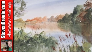 getlinkyoutube.com-Landscape painting from a photograph