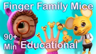 getlinkyoutube.com-Finger Family Counting Mice (Learning Counting) | Popular Nursery Rhymes
