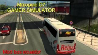 getlinkyoutube.com-Euro  truc Simulator 2 (ETS2) Reina del Camino  Ejecutiva Bus Cama