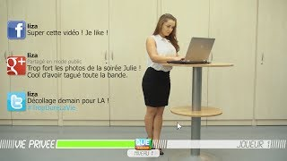 Sur les réseaux sociaux, vous êtes vite à poil (version femme)