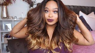 getlinkyoutube.com-VIP Beauty Hair | Aliexpress | Brazilian Body Wave OMBRE (3 tone hair) | Install and Style