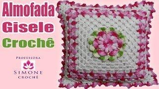 getlinkyoutube.com-Almofada em crochê Flor Gisele - Professora Simone