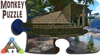 getlinkyoutube.com-ARK: Advanced Building: Redwood Tree Platform Treehouse - Update 243 - IronMine Vanilla Survival PVE