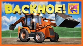 getlinkyoutube.com-Learn About a Backhoe | Construction Vehicles for Children