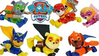 getlinkyoutube.com-PAW PATROL SUPER PUPS SUPERHEROES SURPRISE EGG CHASE MARSHALL SKYE ROCKY ZUMA TOYS SORPRESA
