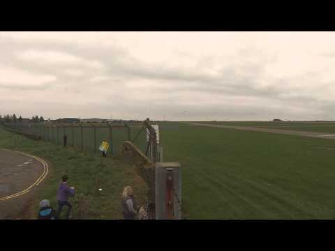 Vulcan XH558's first flight of 2013 over RAF Scampton in HD