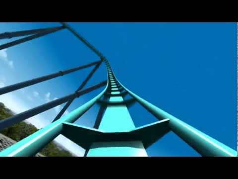 Leviathan Roller Coaster Virtual POV CGI Animated B&M Giga Coaster Canada's Wonderland 2012